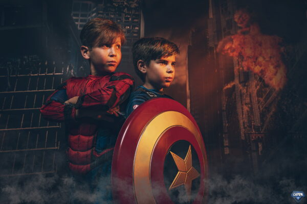 super hero photoshoot experience for kids
