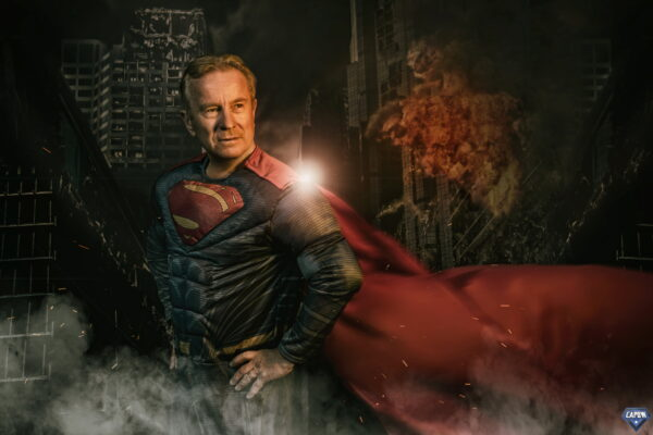 superman super hero photoshoot