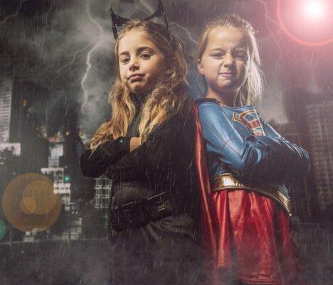 kids super hero photoshoot