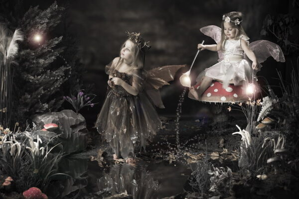 girl at fairy photoshoot studio